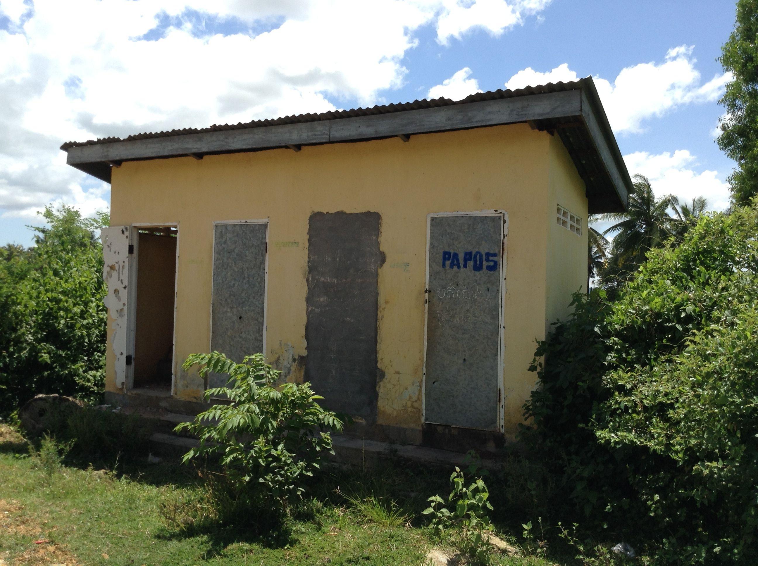 School 1 - Updated toilet block 1 working toilets