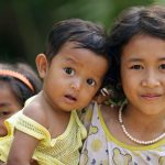 Three children - Cambodia