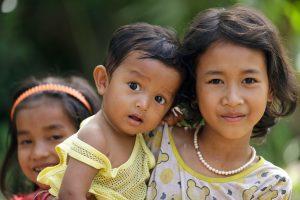 Three children - Cambodia