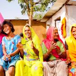 Traditional Rural Rajasthani Indian Family in a village