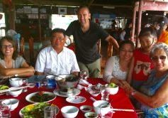 The beginnings of Focus Cambodia. Founder Lesley Hewett at right.