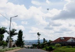 A public service announcement drone above kigali